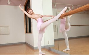 Eye-catching ballerina from Japan has smoking hot breasts and additionally unshaved pussy