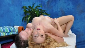 Massage chick Taylor Whyte provides limited services for birthday guy